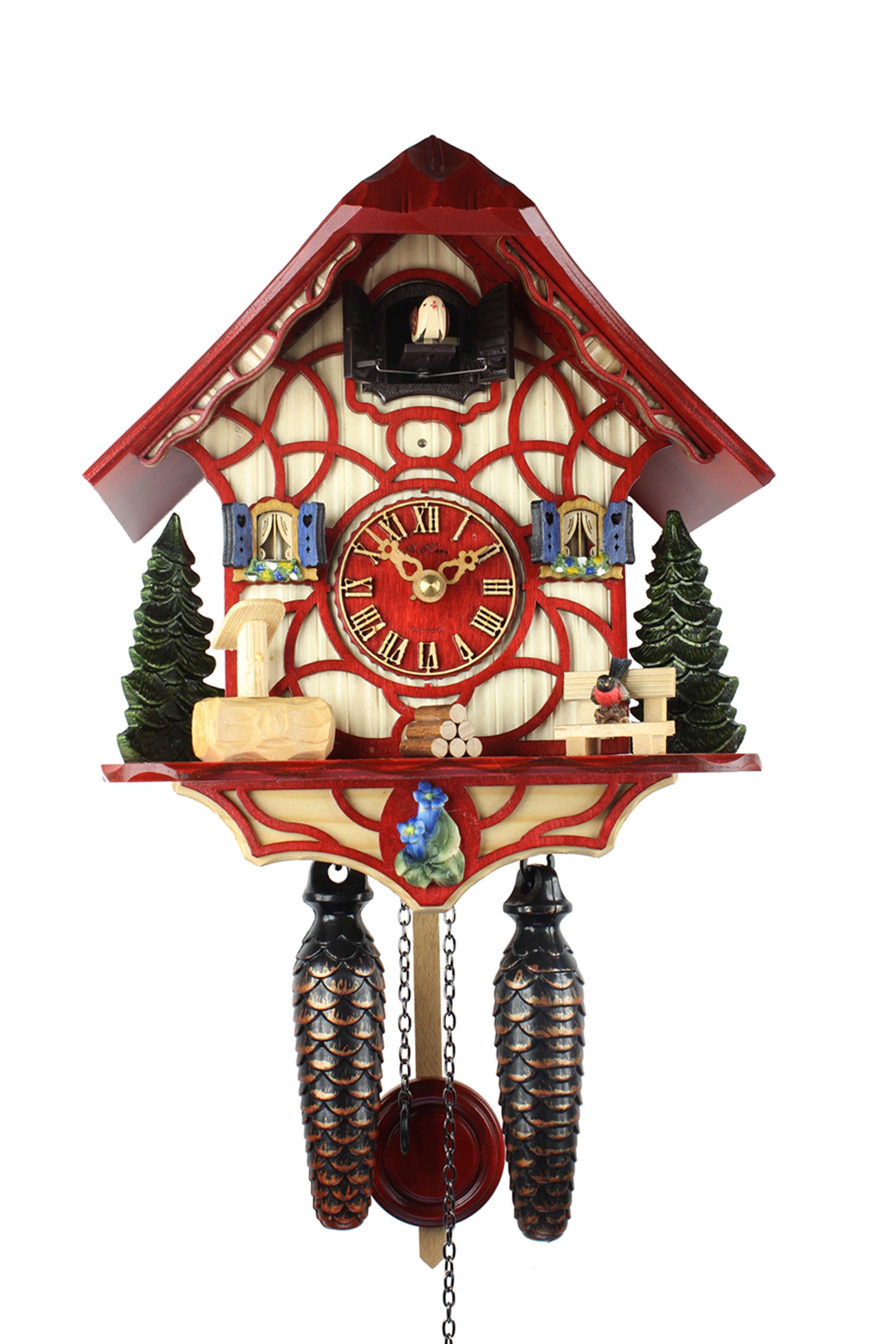 HerrZeit Quartz Cuckoo Clock - Magic Red