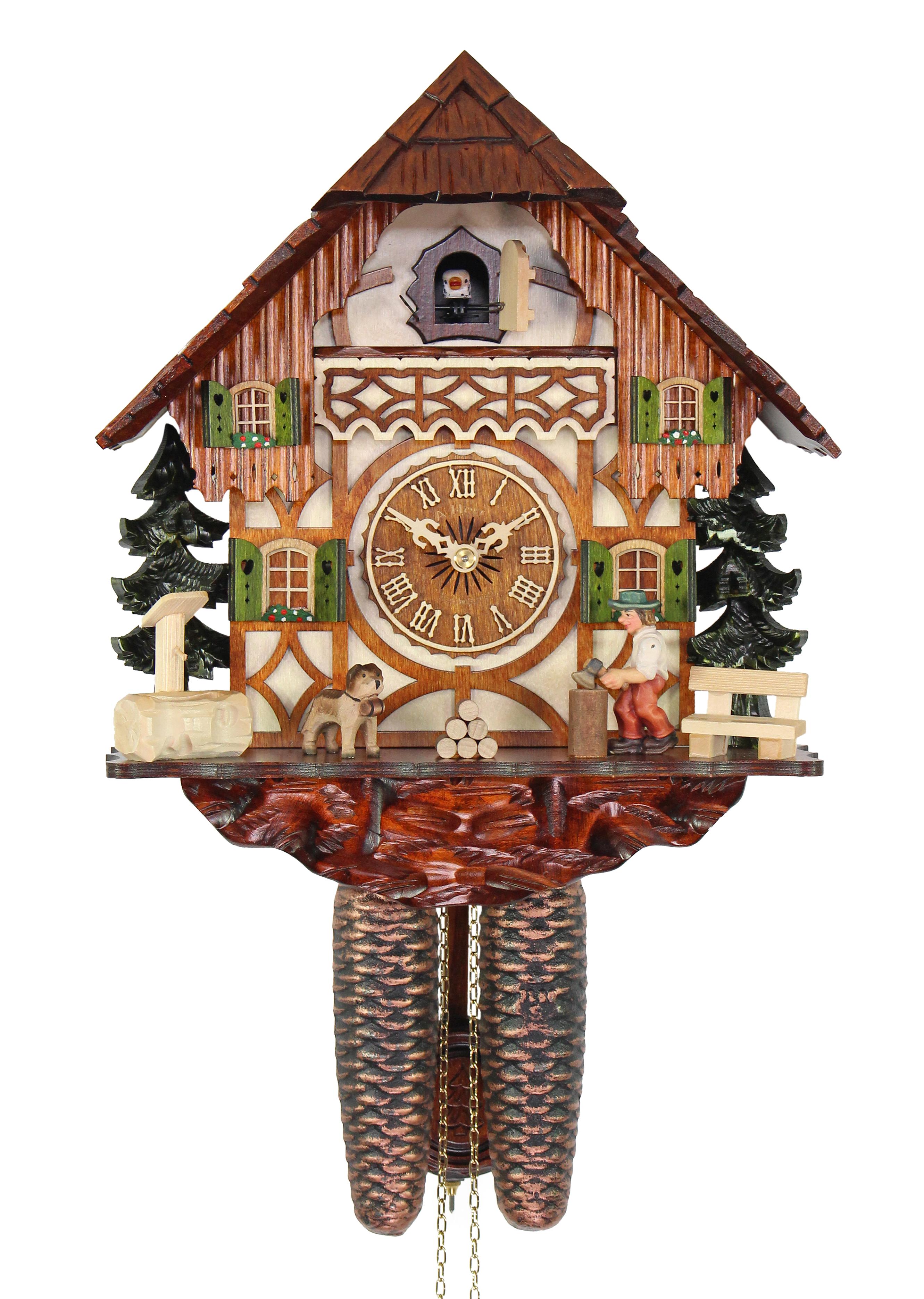 HerrZeit by Adolf Herr Adolf Herr Cuckoo Clock The Busy Wood Chopper